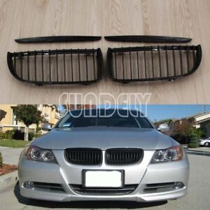 Gloss-Black-Kidney-Sport-Grilles-Grill-For-BMW-E90-3-Series-Sedan-Wagon-04-07