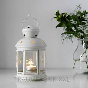 ikea rotera laterne f r teelicht windlicht teelichter kerzenhalter 21cm wei neu 5054186168271. Black Bedroom Furniture Sets. Home Design Ideas