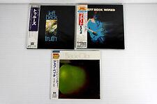 JEFF BECK ~ JAPAN MINI LP CD x 3 ALBUMS, ORIGINAL, RARE, OOP