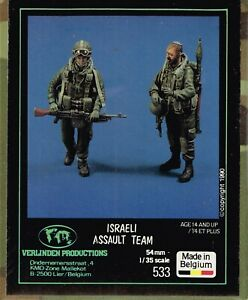 1-35-RESIN-FIGURES-VERLINDEN-533-ISRAELI-ASSAULT-TEAM-NEW