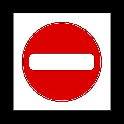 All Materials 150x50mm MISC63 No Entry Plastic Sign or Sticker