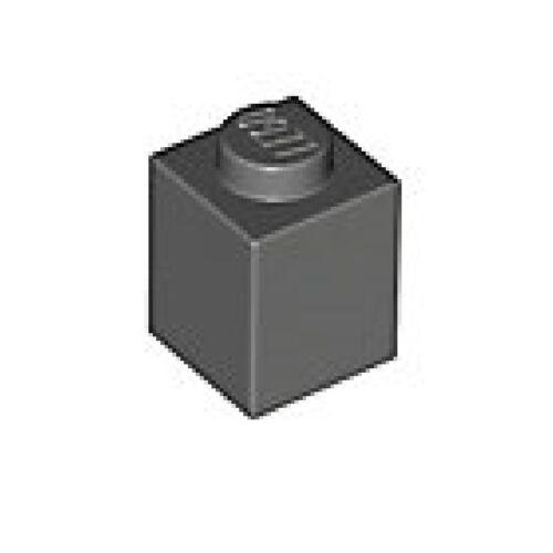 PACK of 10 LEGO BRICKS 1X1 Dark stone grey 4211098//3005