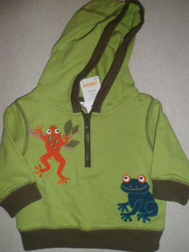 Gymboree JUNGLE EXPLORER Green Frog Hoodie Hooded Sweatshirt Zip Pullover NWT
