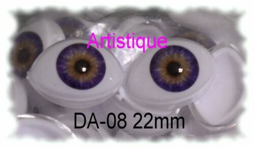 ACRYLIC LIFE LIKE DOLL EYES ~ 16mm OVAL ~ BEAUTIFUL, MUST READ RED DESCRIPTION