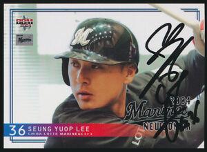 Lee-Seung-Yeop-Yuop-Korean-Player-Signed-2004-Japanese-BBM-Baseball-Card-M71