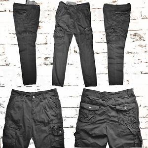 Wählen Sie für neueste Heiß-Verkauf am neuesten Bestpreis Details zu Cargohose,Herren,100% Baumwolle,Hose,in grau uni,viele  Taschen,Druckknöpfe