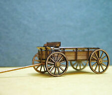 FARM WAGON (1) O Scale Model Railroad Structure Unpainted Wood Laser Kit RSL1501
