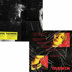 SHINEE-TAEMIN-WANT-2nd-Mini-Album-RANDOM-CD-POSTER-Book-Card-Stand-GIFT-SEALED