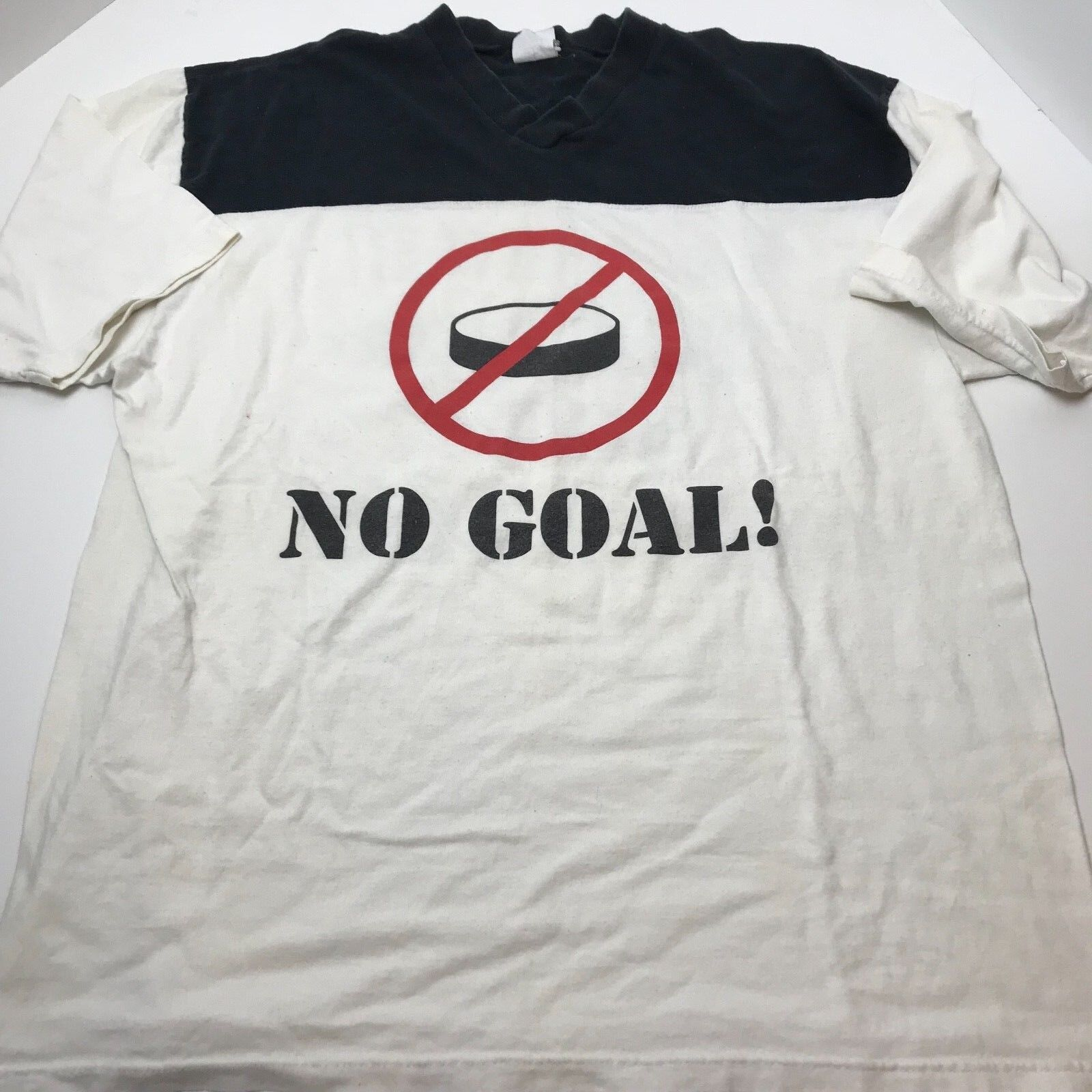 Vintage Buffalo Sabres No Goal 1999 Stanley Cup Shirt XL RARE DOUBLE SIDED Hasek