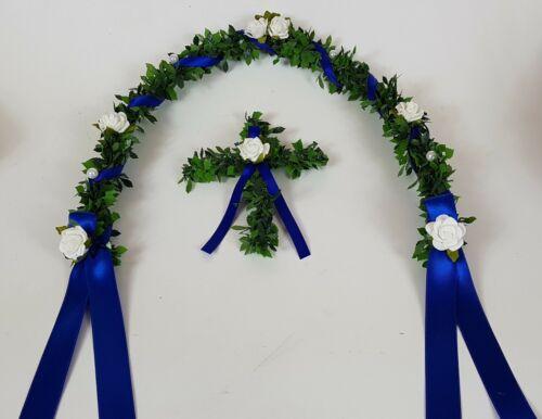 Place d/'honneur vigne avec Croix Bleu Royal Communion Décoration De Table dkd/_ekb-100