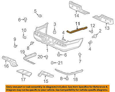 HONDA OEM 06-14 Ridgeline Rear Bumper-Spacer Left 71586SJCA00