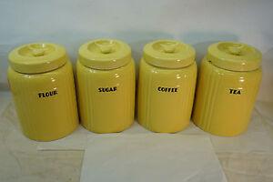 Image Is Loading Vintage Hall China Flour Sugar Tea Coffee Canister