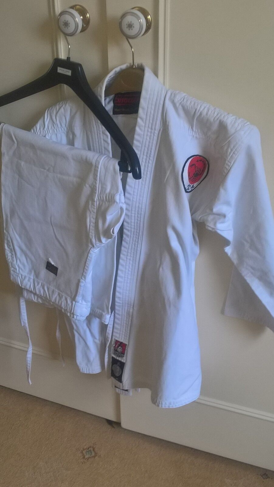 KARATE Kit for up to 16 years old ,very clean, ironed and good condition, Shogun