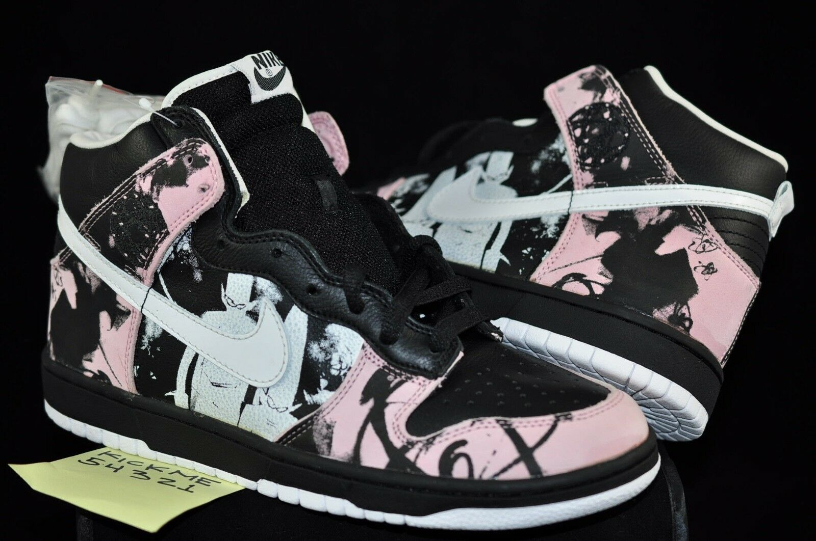 NIKE DUNK HIGH PRO SB UNKLE DUNKLE MO WAX JAMES LAVELLE SIZE 9.5 NEW PINK FUTURA
