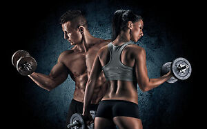 Image Is Loading Poster 19 034 X 13 Fitness Couple