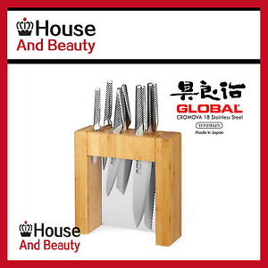 New-Global-Ikasu-7-Piece-Knife-Block-Set-Genuine-Free-Post-Save