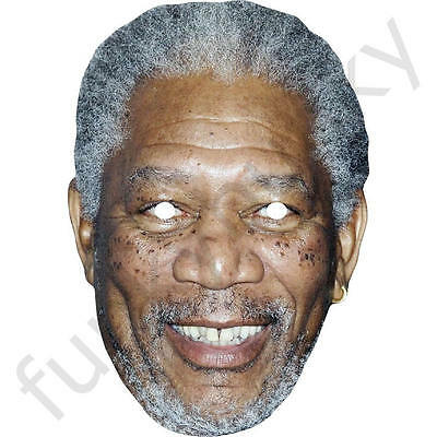 Morgan Freeman Celebrity attore CARD Face Mask-tutte le nostre maschere sono pre-tagliati!