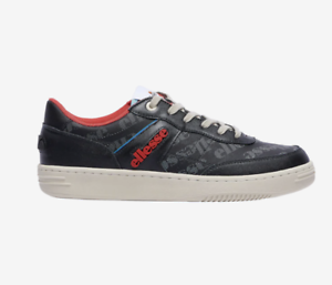 Mens-Ellesse-Vinitziana-2-0-Casual-Leather-610106-Shoes-Black-Red-Blue-c1