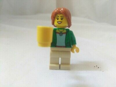 Lego City Town HAIRDRESSER Hair Dresser Scissors Brush Female Minifig Minifigure