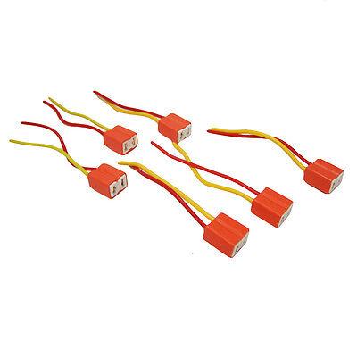 2 X H7 Ceramic Bulb Headlight Wire Repair Plug Wiring Socket Connector Holder