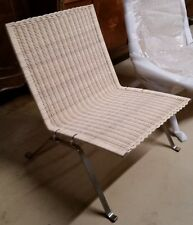 Mid Century Poul Kjaerholm Easy Chair Rattan H28''W24.75''D25.5'' Repro