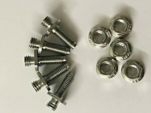 ROVER-MINI-COOPER-SPORTSPACK-WHEEL-ARCH-STAINLESS-STUDS-amp-NUTS-ZUA000250X
