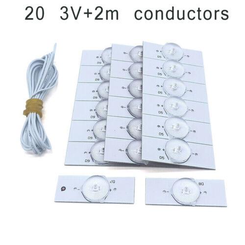 Universal SMD Lampe Perlen mit Optisch Linse Filter für 81.3-165cm LED TV Repair