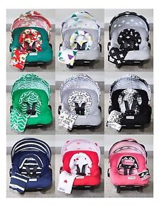 Image is loading WHOLE-CABOODLE-by-CarSeat-Canopy-5pc-Set-JERSEY-  sc 1 st  eBay & WHOLE CABOODLE by CarSeat Canopy 5pc Set JERSEY STRETCH Baby Car ...