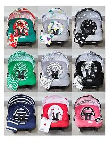 Image is loading WHOLE-CABOODLE-by-CarSeat-Canopy-5pc-Set-JERSEY-  sc 1 st  eBay : car seat tent - memphite.com