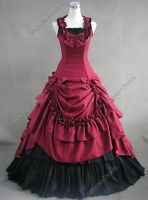 Victorian Southern Belle Westworld Gown Dress Theater Clothing Steampunk 081