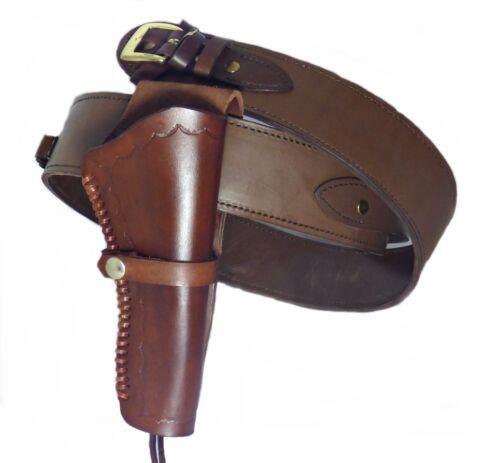 Belt Holster Western Holster with Cartridge Loops Cowhide Brown
