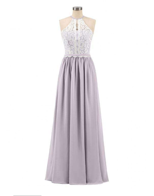 NWT sz 2 Babaroni lace halter top dress prom bridesmaid wedding maid honor DUSK