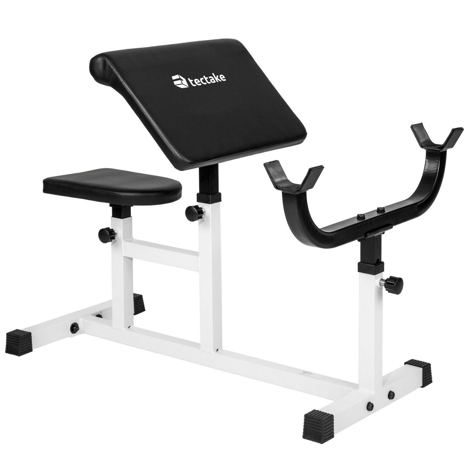 Banco de bíceps curl rizo de predicador gimnasio fitness aparato entrenamiento