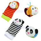 Developmental Toy Animal Baby Infant Soft Hand Wrist Bells Foot Sock Rattles New