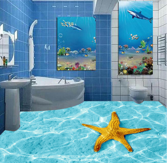 3D Gelb Starfish 7953 Floor WallPaper Murals Wall Print Decal 5D AU Lemon