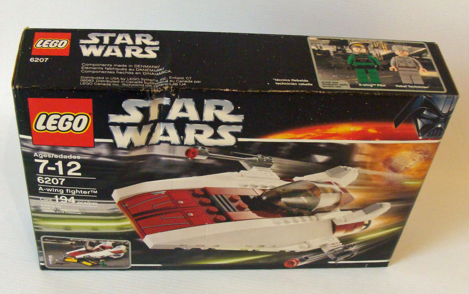 Lego® Star Wars 6207 - A-Wing Fighter 7-12 Jahren 194 Teile - Neu