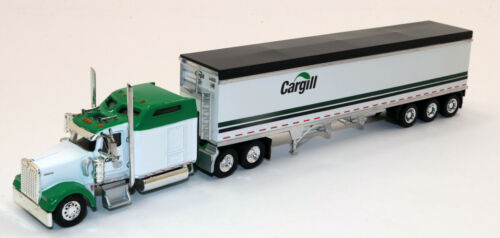 Custom Herpa//Ton High Side Grain Trailer Cargill KW Kenworth W900L 1//87 HO