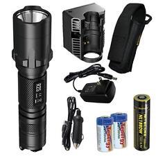 NiteCore R25 800 Lumen Rechargeable Smart-Dock Tactical Flashlight w/ 2xCR123As