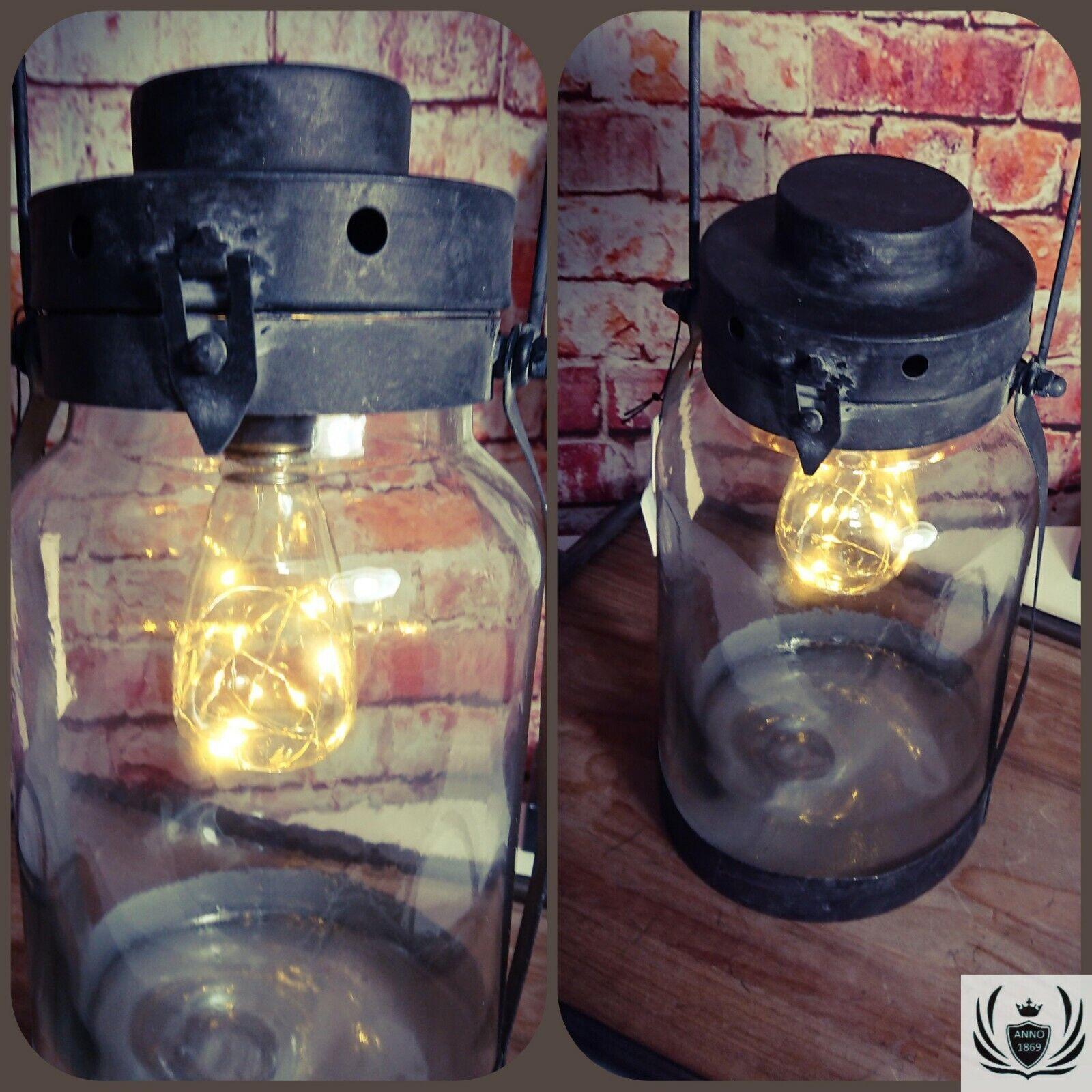 LED Laterne Deko Lampe Antik Nostalgie Retro Vintage