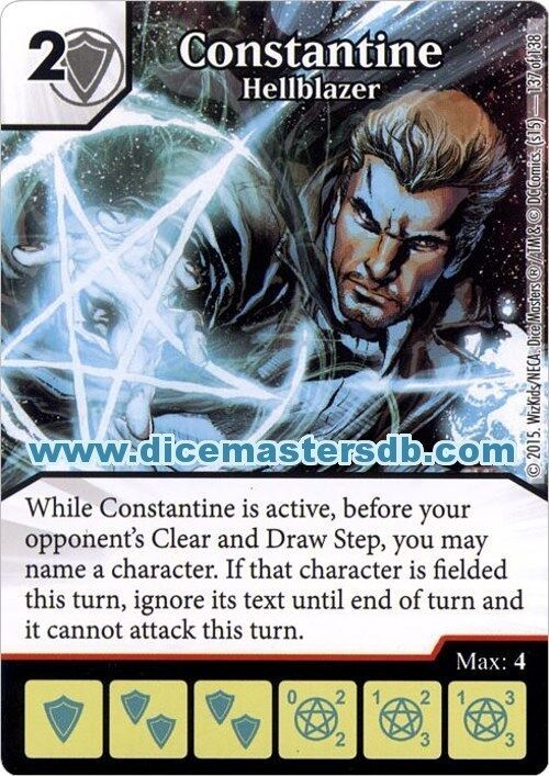 Constantine  Hellblazer  137 - Justice League - DC Dice Masters  le réseau le plus bas