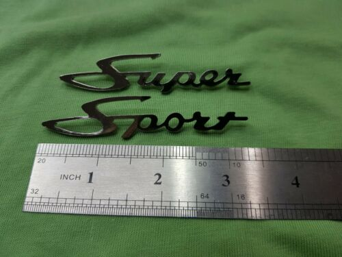 Chris Craft Super Sport vintage chrome plated logo badge project//restoration