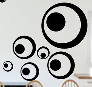 Wandtattoo Sticker Aufkleber Retro Dots Kreise 70er Wand/Fliesen/S<wbr/>piegel/Fenster