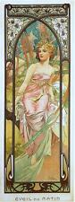 Alfons Mucha Art Nouveau Times of Day Prints Night Waking Evening Rest & FREEBY