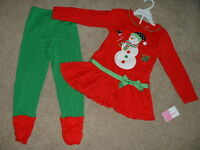 Sophie Rose Girls Boutique Holiday Snowman Outfit Set Clothes Size 5 5t