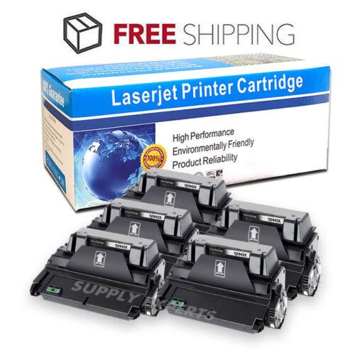 5PK Q5942X 42X High Yield Toner Cartridge for HP LaserJet 4200 4250 4300 4350