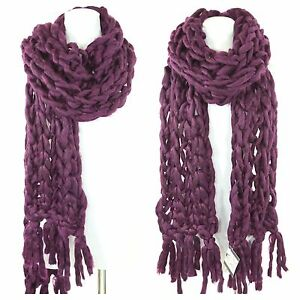 TS-Handmade-Aubergine-Wine-Heavy-Chunky-Sweater-Yarn-Super-Soft-Cable-Knit-Scarf