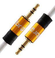 IBRA® 5M 3.5mm to 3.5 mm Male Jack Audio IPOD AUX MP3 Gold Cable - Orange - 5 mt