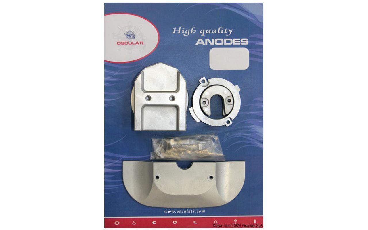 Anoden-Set Mercruiser Alpha I Serie II 1991-2015, Zink Zink Zink Aluminium Magnesium-Anode eb8f49