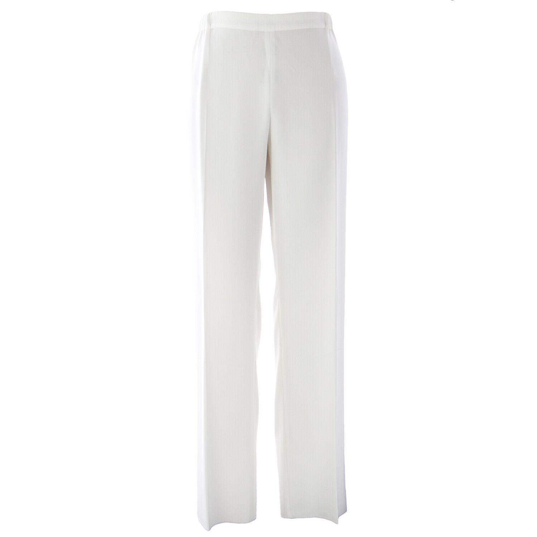MARINA RINALDI Women's White Retate Classical Trousers  NWT