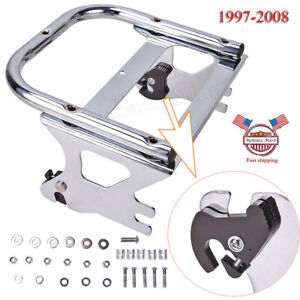 Detachable Two-up Tour Pak Pack Mounting Luggage Rack For Harley Touring 97-08 by EGO